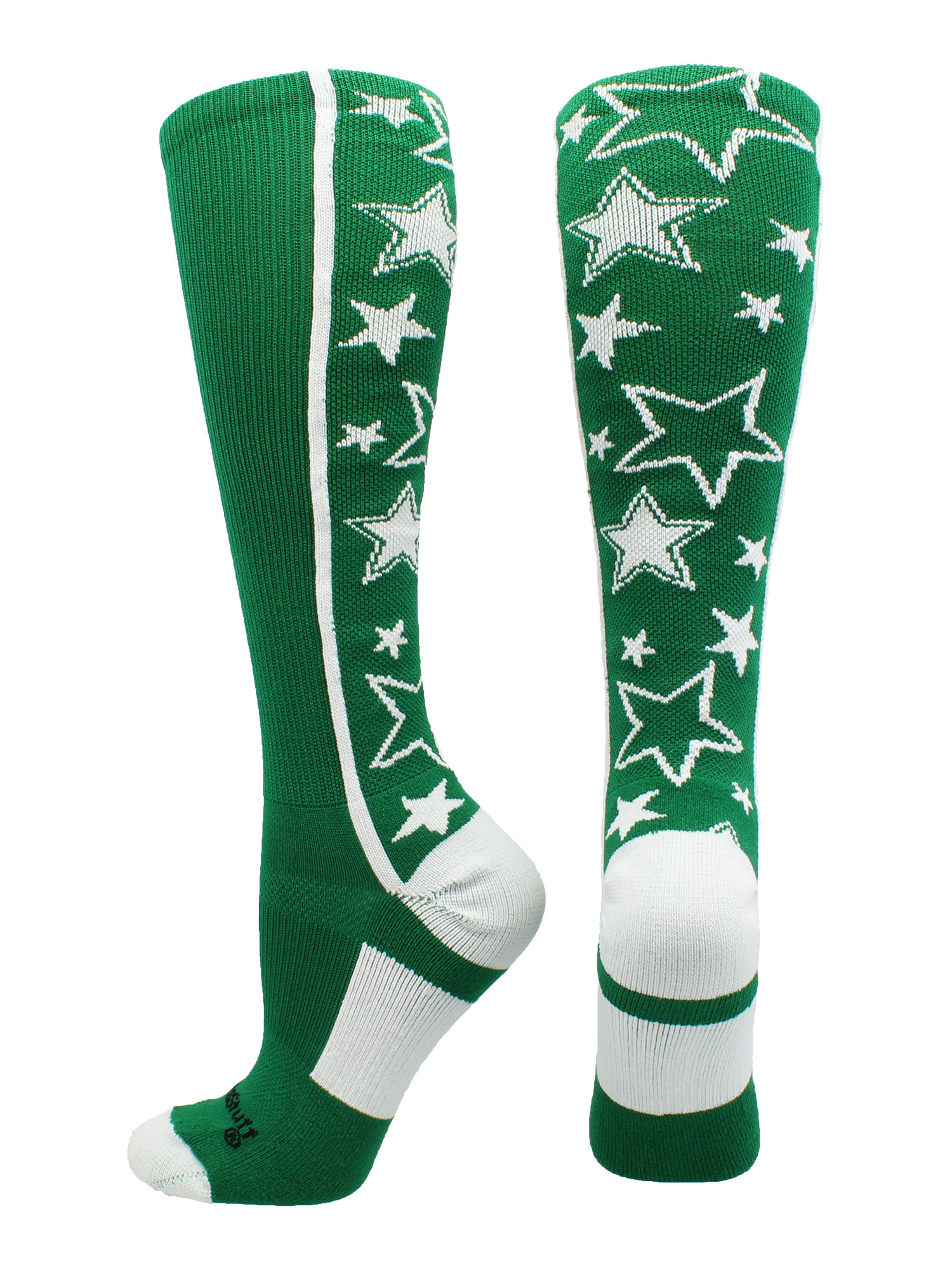 Crazy Socks with Stars Over the Calf Socks (Royal/White, Large) - Royal/White,Large