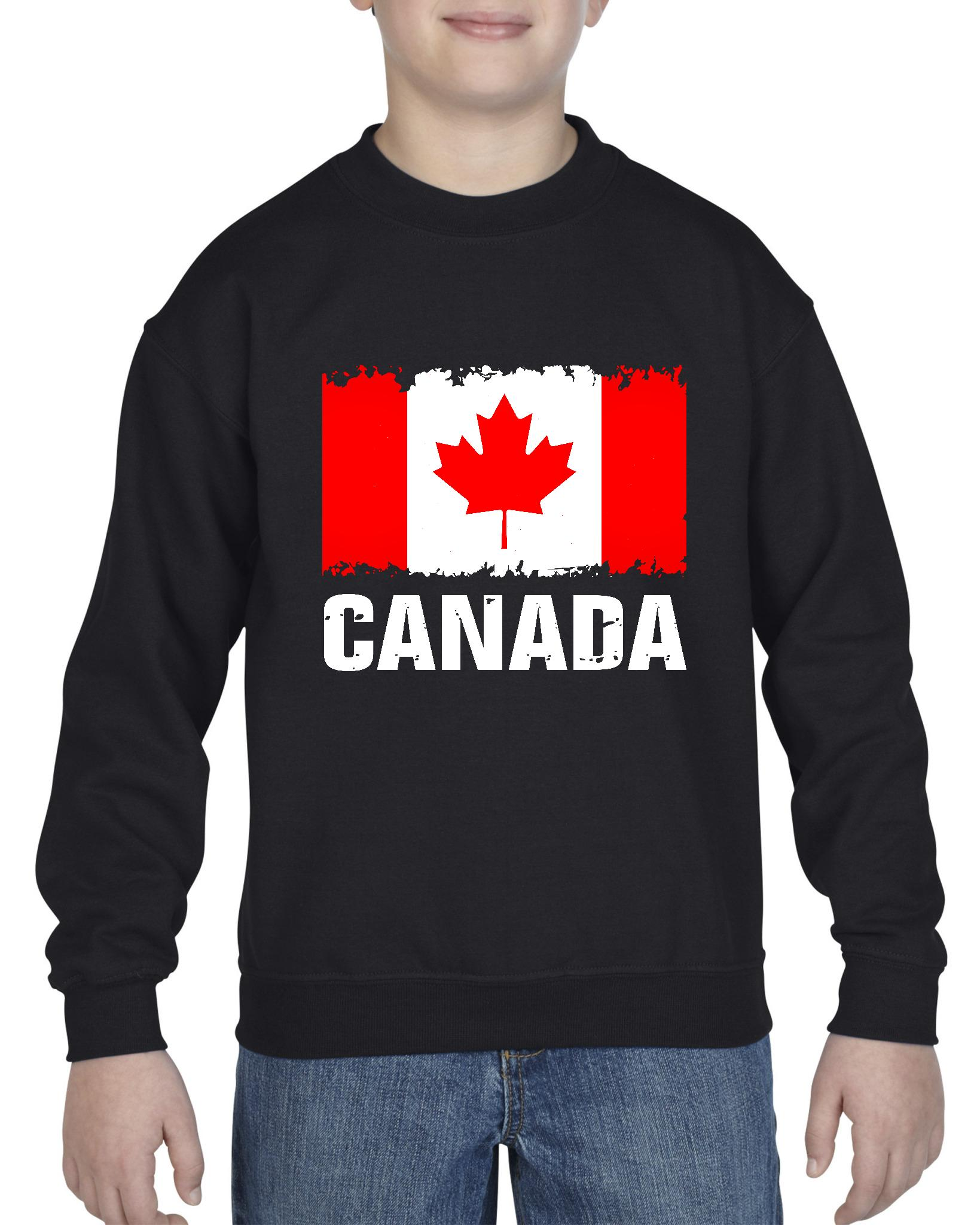 Canada Flag Unisex Youth Crewneck Sweatshirt