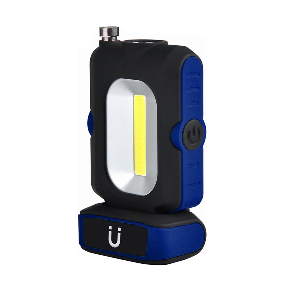 COB Multifunctional Rechargeable With Magnet Stander High Lightness Stretchable Antenna Flashlight Working Lamp