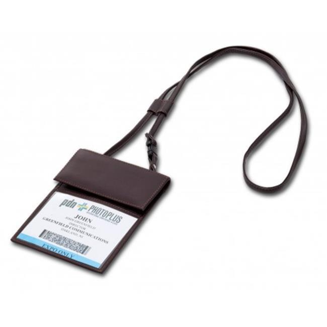 Dacasso a3638 Black Bonded Leather Badge Holder - image 1 de 1