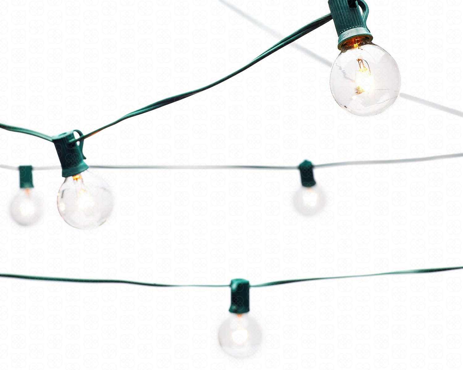 Globe String Lights With G40 Bulbs 25ft By Deneve Green N A