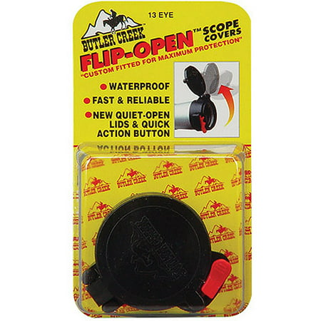 "Butler Creek Flip-Open Scope Cover, Fits 1.485"" Eye, Size 9A, Black"