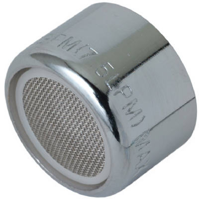 "Faucet Aerator, F, Chrome-plated Brass, 55/64"" X 27-thread, Brass Craft, SF0057X"