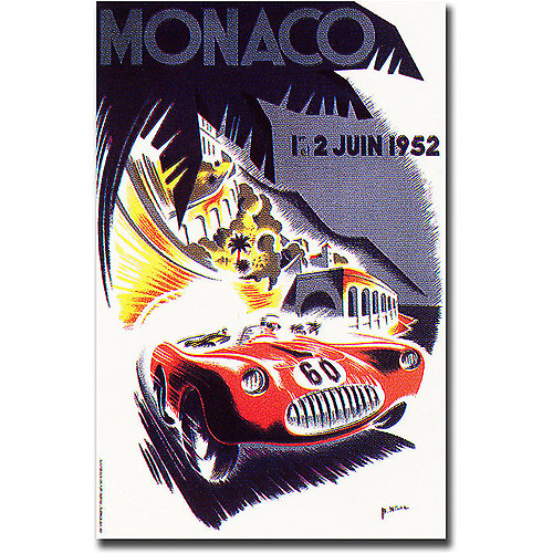 "Trademark Fine Art ""Monaco 1952"" Canvas Art by George Ham"