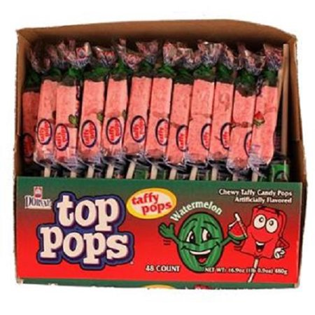 Product Of Top Pops, Watermelon Lollipops, Count 48 - Sugar Candy / Grab Varieties & Flavors - Watermelon Suckers
