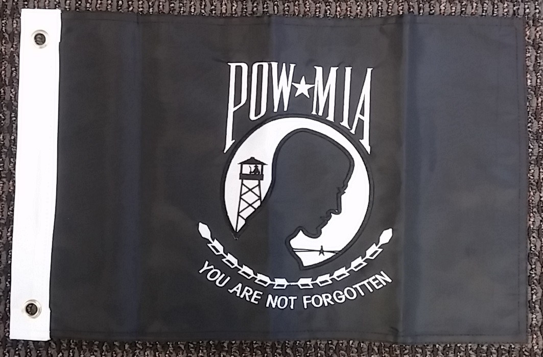 POW Mia Not Forgotten Double Sided Nylon Embroidered 12x18 Inch Boat Flag Banner by Ramsons Imports