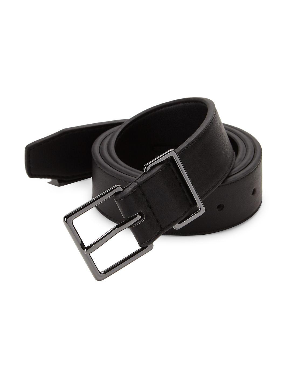 Metal Loop Skinny Belt