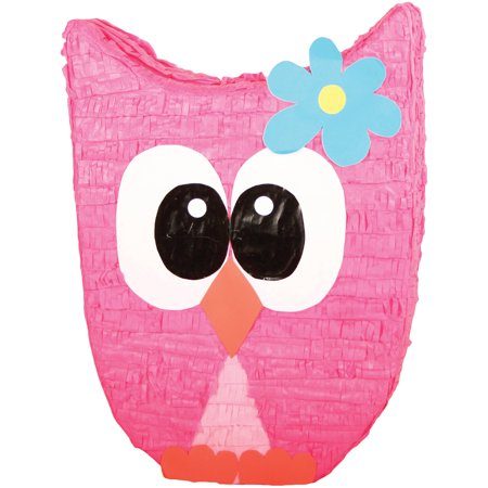 Pink Owl Party Pinata Traditionally Handcrafted