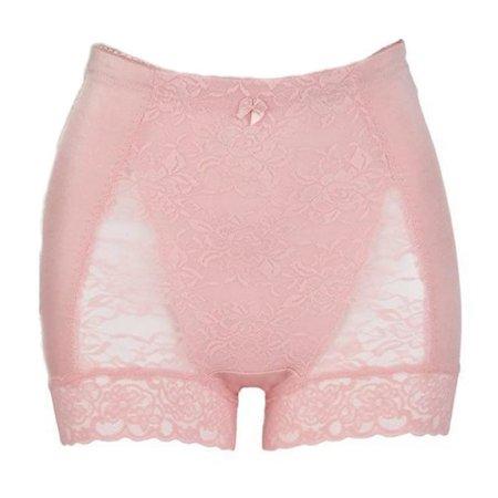 7441d49e15359 Rhonda Shear size 1X Pink 3867B Shapewear Pin Up Floral Lace Control ...