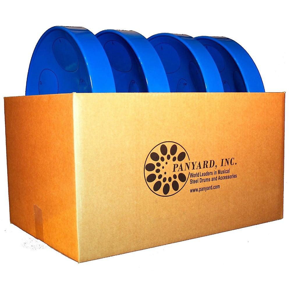 Panyard Jumbie Jam Educator's Steel Drum 4-Pack with Floor Stands Blue