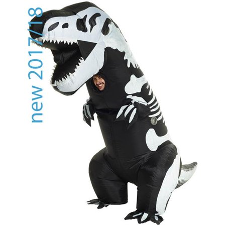 Skeleton T-Rex Inflatable Adult Costume, One Size (T Rex Skeleton Costume)