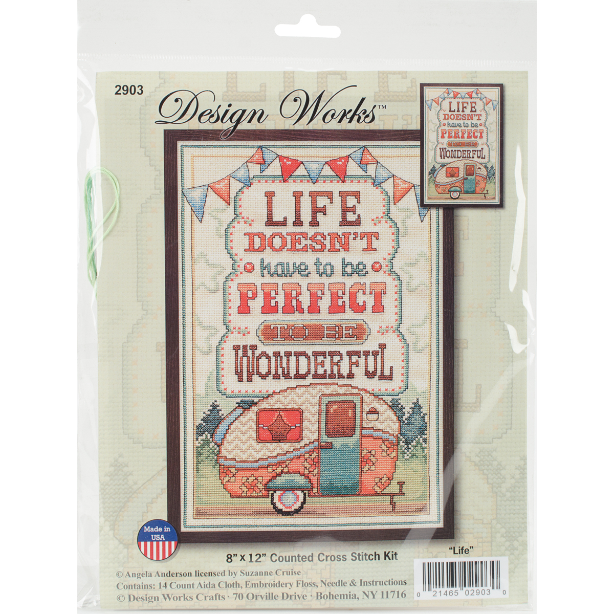 "Life Is Wonderful Counted Cross Stitch Kit-8""X12"" 14 Count - image 1 of 1"