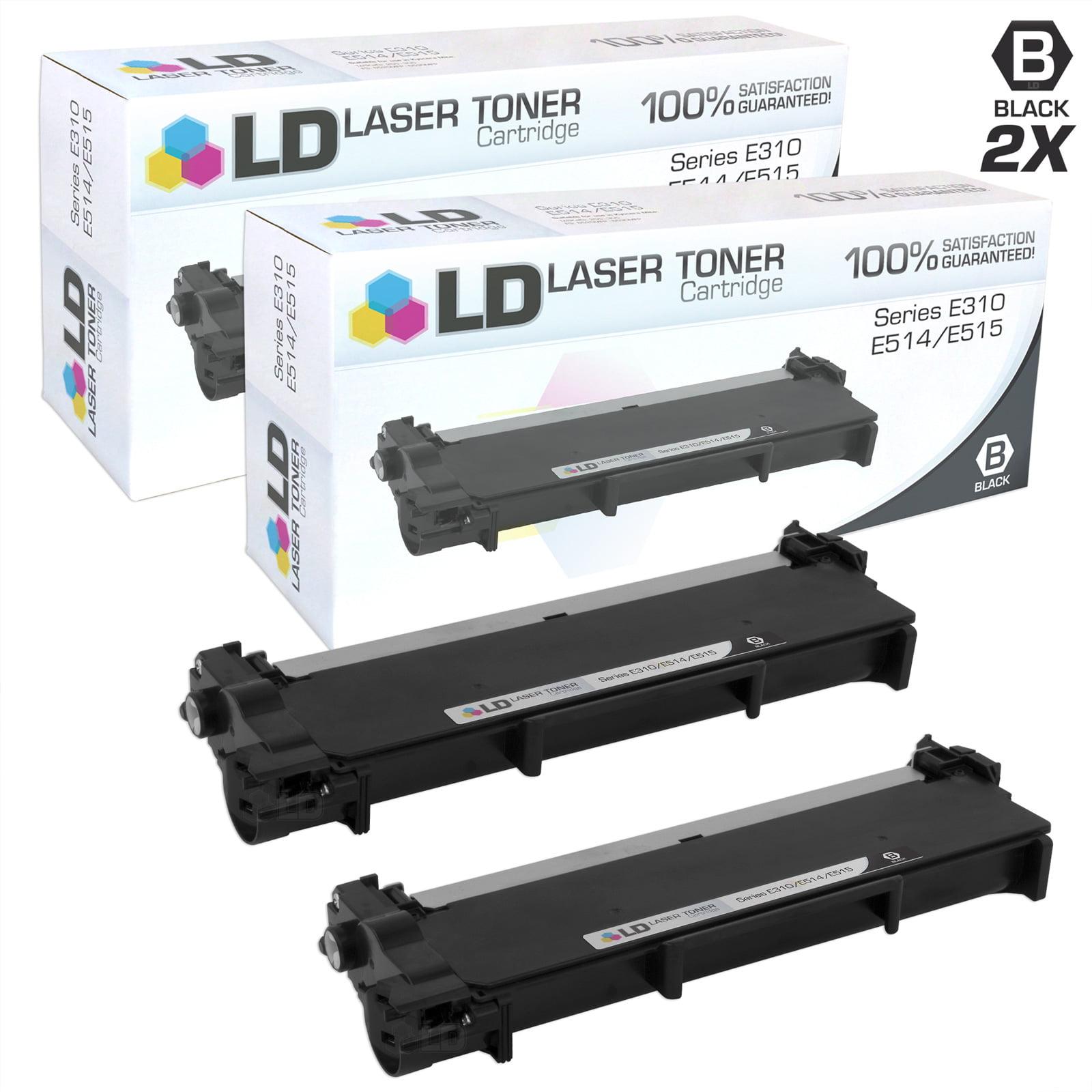 LD Compatible Dell 593-BBKC (CVXGF) Set of 2 Black Toner Cartridges for  E310dw, E514dw, E515dn and E515dw