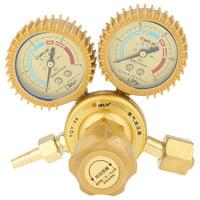 Anauto 1pc Oxygen Gas Pressure Regulator Valve Gauge G5/8 Thread for Cutting Welding Welder , Air Pressure Regulator, G5/8 Reducing Valve