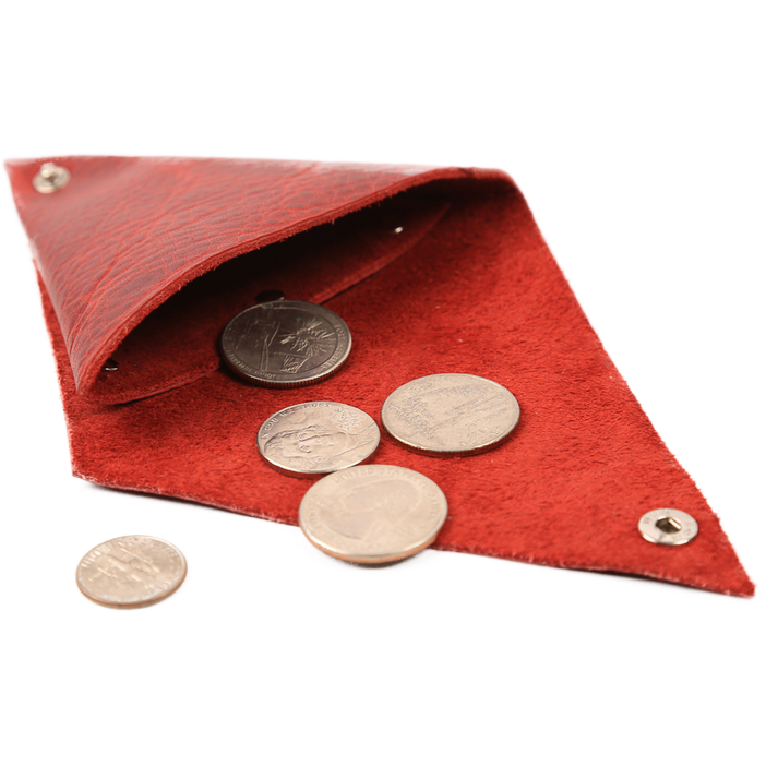 Custom Triangular Folded Leather Coin/Change Purse