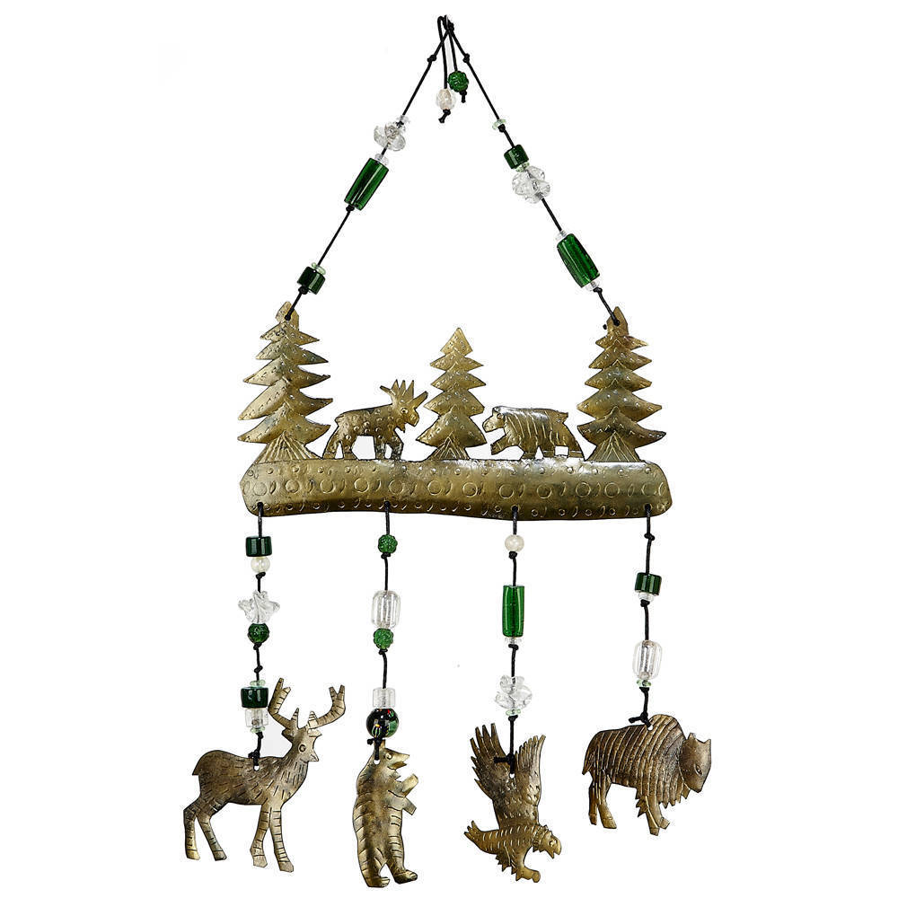 Maharani Imports Handmade Friends of the Forest Wind Chime (India)