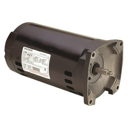 Century Pool - Century 1/2 HP Square Flange Pool Pump Motor, 3-Phase, 3450 Nameplate RPM, 208-230/460 Voltage, 56Y Frame - H491