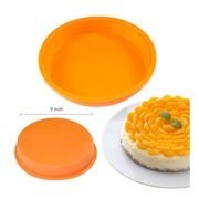 "9"" Round Silicone Cake Mold Pan Muffin Chocolate Pizza Pastry Baking Tray Mould baking tools"
