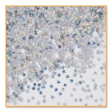 Silver Holographic Stars Confetti - 0.5 oz Bag Confetti 1 Oz Bag