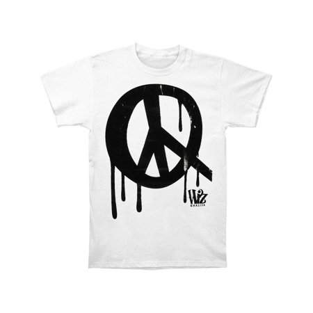Wiz Khalifa Men's  Peace Slim Fit T-shirt White