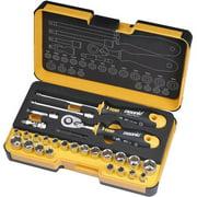 Spacio Innovations 057 827 06 0.25 in. R-GO Stubby Imperial & Metric Ergonic Ratchet Multi-Tools Set