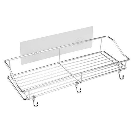 Smart Novelty Stainless Steel Storage Rack Kitchen Bathroom Shelf Storage Wall Shelf Organizer](Novelties Store)