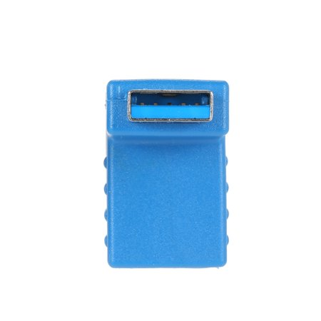 Right Angle USB3.0 AM to AF L Shape Adapter Converter USB 3.0 A Male to A Female 90 Degree Angle Plug Down - image 3 of 5