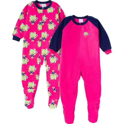 Gerber Toddler Girl Blanket Sleeper 2-Piece Set