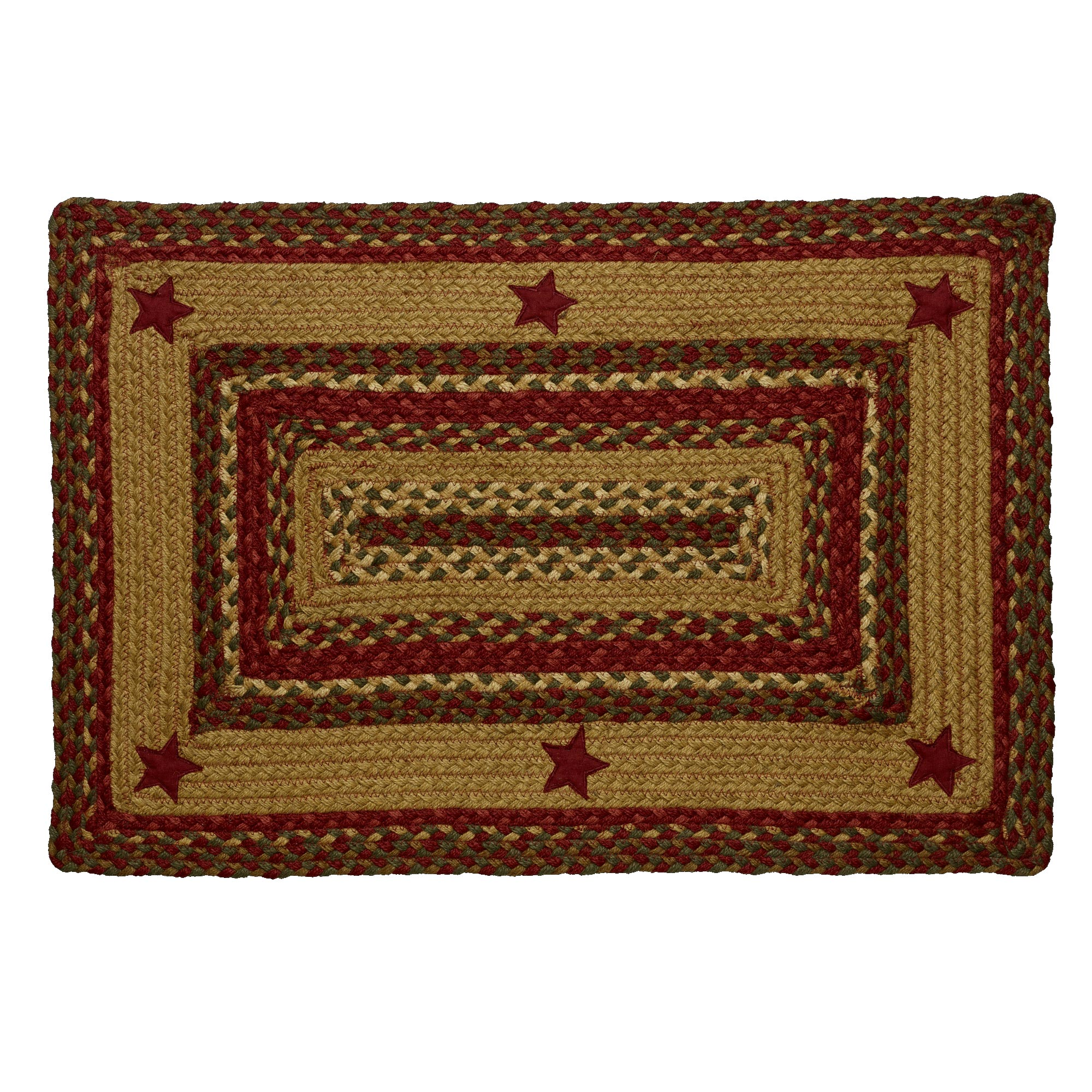 Braided Rug Cinnamon Star Jute Country Primitive IHF by IHF Limited