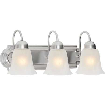 Chapter 3 Light Bathroom Vanity Light Satin Nickel