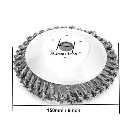 Lawn Mower Weeding Head Steel Wire Weeding Brush Twisted Wire Bowl Type - image 3 of 8