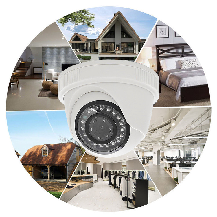 New JND-538 Outdoor Waterproof 1000TVL CCTV Surveillance Camera Indoor Outdoor Camera for Home Security IR Night Vision 720P IP Camera White