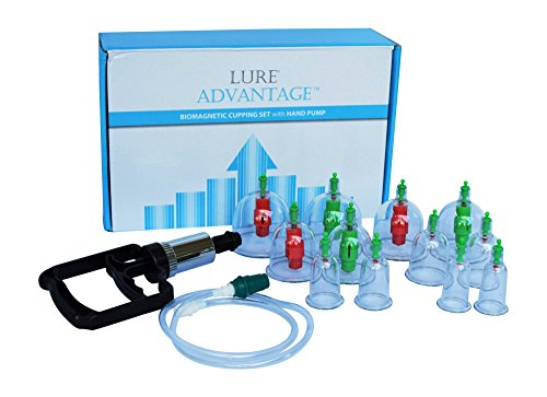 Chinese Cupping Suction Therapy Set with Vacuum Pump LURE ADVANTAGE Suction Cups with FREE Illustrated English Cupping... by LURE®