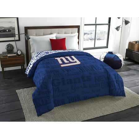 Nfl Mascot - NFL New York Giants Mascot Twin & Full Bedding Comforter Set, 1 Each