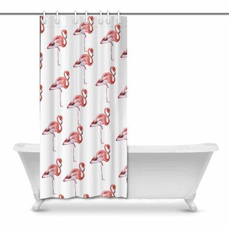 POP Flamingos Bathroom Shower Curtain Decor Set 36x72 inch - image 1 of 1