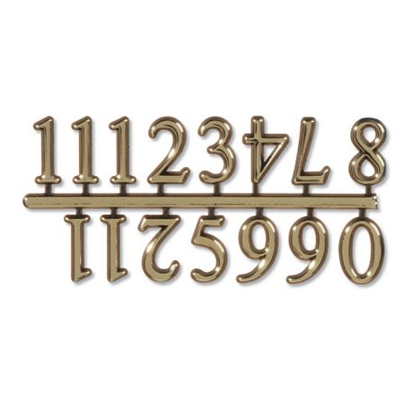 Walnut Hollow Adhesive Clock Numbers: Large, Gold, Arabic Numerals (Eastern Arabic Numeral)