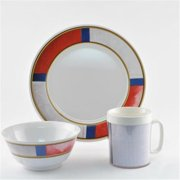 Galleyware 1072-S 12 Decorated Melamine Non-skid 12 Piece Dinnerware Gift Set