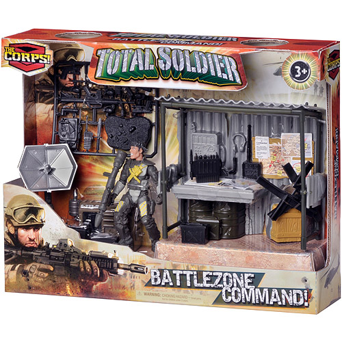 The Corps Total Soldier Battle Zone Command Station Action Figure Play Set