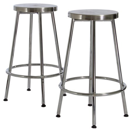 Mayworth Chrome Backless Bar Stools - 2 Pack (Nostalgic Style Chrome Bar Stool)