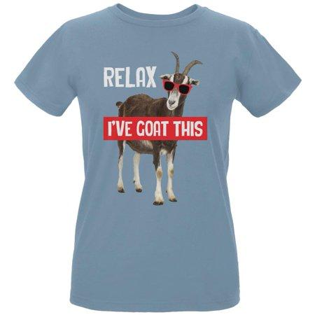 Gots Certified Organic Cotton - Relax I've Goat Got This Womens Organic T Shirt