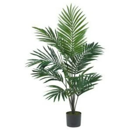 Nearly Natural 5 ft. Artificial Kentia Palm Silk Tree, Green](Party Palm Trees)