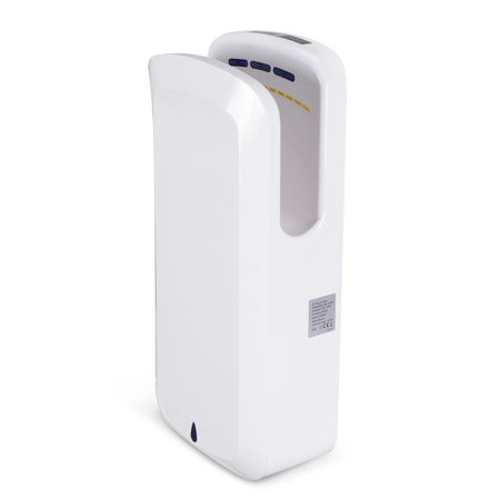 ARKSEN Ultra-thin Automatic Hands Free Bathroom Hand Dryer, Electric Jet Hand Dryer 1650W, Commercial Hand Dryer, White ()