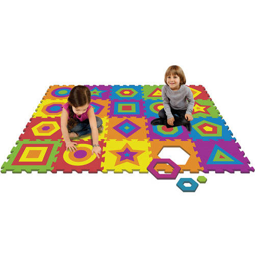 4' v 4' Activity Play Mat, Shapes
