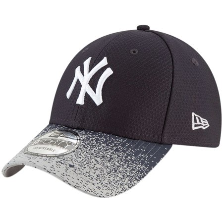 New York Yankees New Era Visor Blur 9FORTY Adjustable Hat - Navy - OSFA