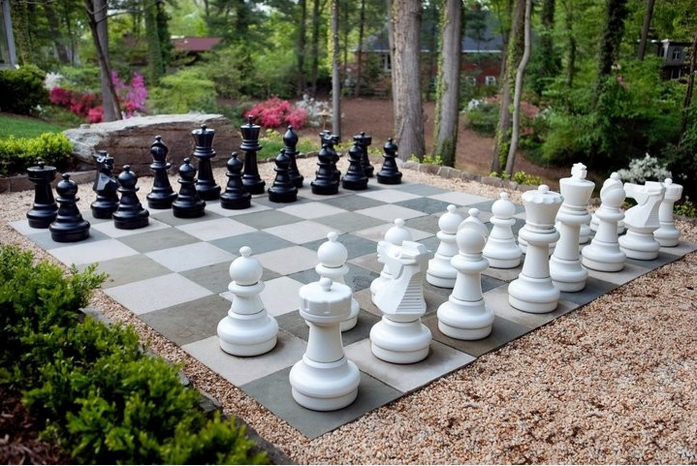 MegaChess Giant Premium Chess Pieces Complete Set with 25 Inch Tall King Black and White by MegaChess