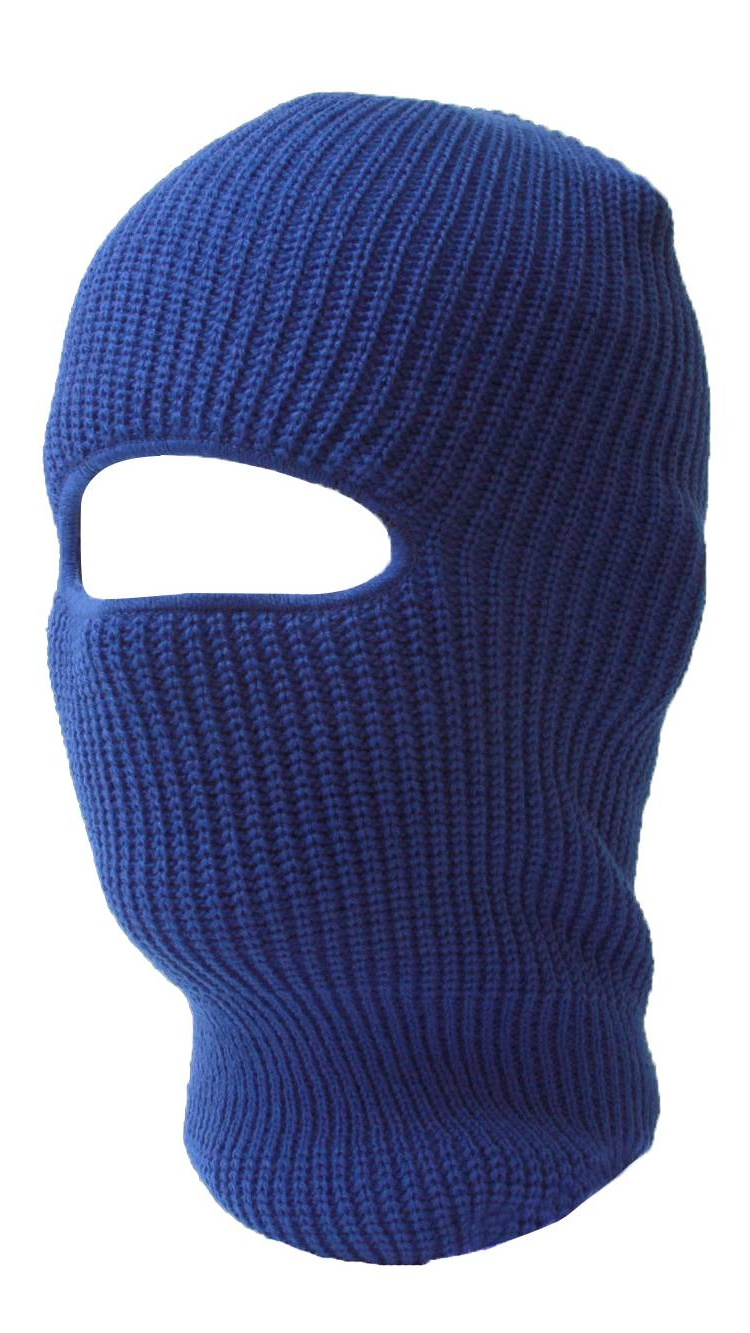 One Hole Royal Blue Ski Face Mask by TOP HEADWEAR