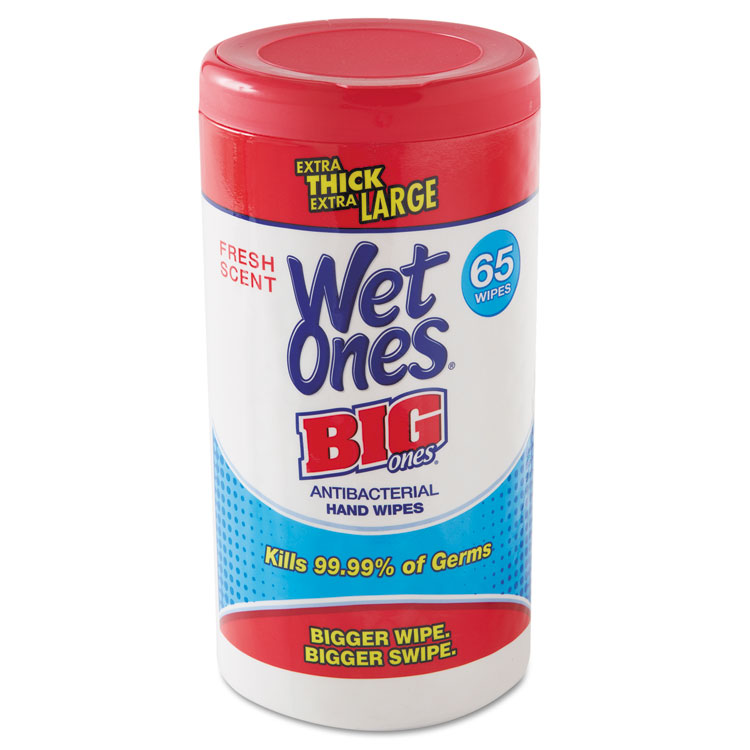 Wet Ones 00501 4 . 5 x 8 inch Wet Ones Big Ones Antibacterial Wipes, White