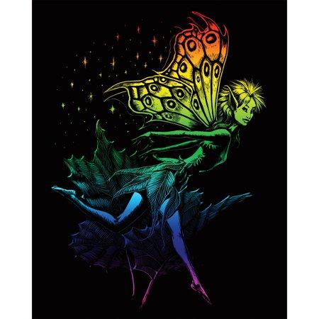 "Rainbow Foil Engraving Art Kit 8""X10""-Dancing Fairy - image 1 of 1"