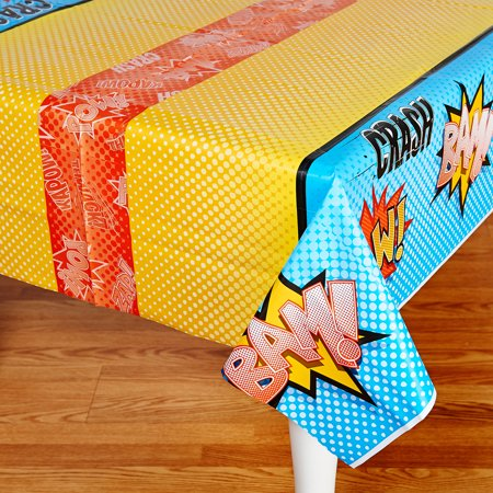 Superhero Comics Party Supplies 2 Pack Tablecovers