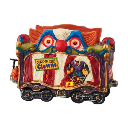 Dept 56 Halloween Village 4049218 Creepy Clown Car LED Retired - The Simpsons Halloween Village